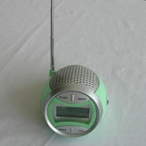 China FM auto-scan radio with LCD alarm clock on sale
