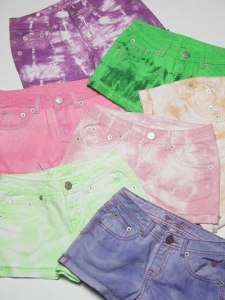 China Girl's tie dyed short on sale