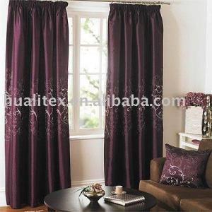 China 100% polyester slub curtain fabric on sale