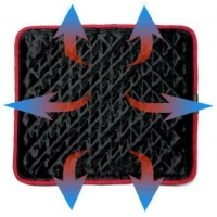 Laptop Cooling Mat with Heat Shift Design and Operates Exterior Power Supply