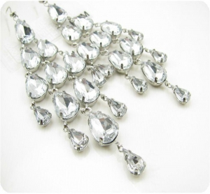 China chandelier crystal earring on sale