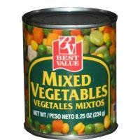 China Best Value Mixed Vegetables on sale
