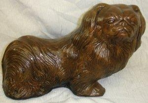 China Pekingese Dog Statue Home Decor Art Sculpture on sale