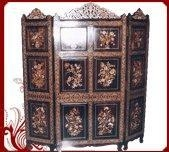 China Rosewood Screen-Flower Design on sale