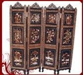 China Rosewood Screen-Flower,Birds and Elephant Design on sale