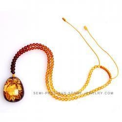 China Wholesale rose amber necklace NYMN0129 on sale