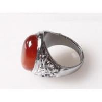 natural red agate ring 925 silver ring