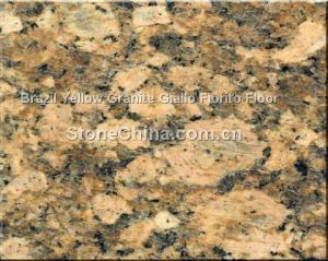 China Brazil Yellow Granite Giallo Fiorito Floor on sale