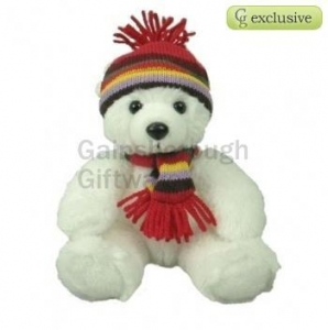 China Christmas Polar Bear Soft Toy 8in on sale