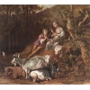 China Oil Painting shepherx for sale