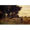 China Oil Painting Cows_Grazing for sale