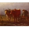 China Oil Painting Plowing for sale