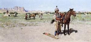 China Oil Painting Saddling_Up on sale