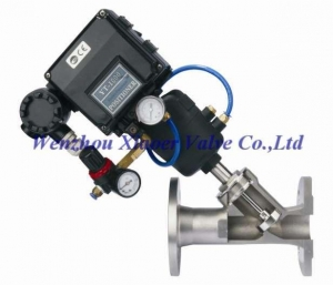 China Pneumatic Angle Seat Valve with Valve Positioner on sale