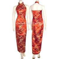 Bamboo Plum Long Dress,Chinese Dresses,Chinese Clothing