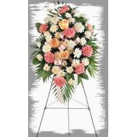 Pink & White-Sympathy Flowers 32