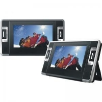 """7"""" Dual screen Portable DVD Player with USB/SD slot, MPEG-4"""