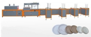 China BS-560 Disposable Paper Plates Counting Packing Machine on sale