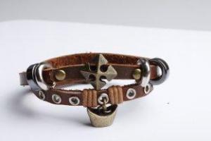 China Leather Charm Bracelets VOB0025-1 on sale