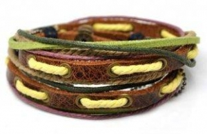 China Leather Rope Bracelet D0009 on sale