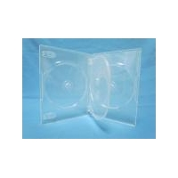 China 7mm/9mm/14mm DVD case SS-DVD-SW/T4 14mm super clear 4-dvd case with tray on sale