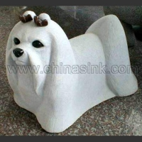 China dog stone animal sculpture 47 on sale