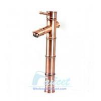 China Antique Copper Antique Copper Bamboo Vessel Sink Faucet 5304C on sale