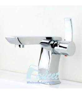 China Chrome Contemporary Single Handle Bathroom Faucet 6315 on sale