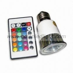 China RGB LED spot light MR16 5W RGB dimmable LED spotlights E27 G5.3 GU10 on sale