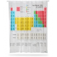 China Fabric Shower Curtains The Periodic Table of Elements Shower Curtain on sale