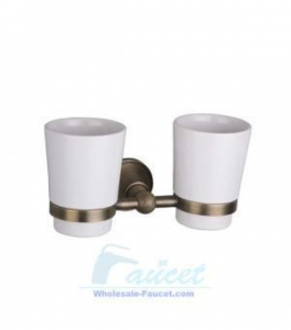 China Bathroom Accessory Double Toothbrush Tumbler Holder FG-608 on sale
