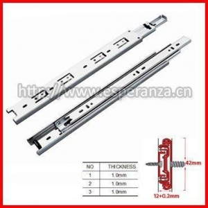 China Drawer Slide 42mm Telescopic Channel on sale