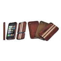 Precious Rare Rosewood Case for iPhone 4(Kosso & Maple)