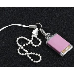 China A beautiful pure pink usb drive with golden white keyring ( M001 ) on sale