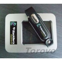 Customer Case/Clients Blackberry leather customized usb flash drive( KH001 )