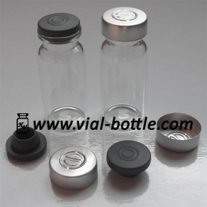 China 10ml injection vial, 20mm sterile butyl rubber stopper and 20mm aluminum cap for somatropin products on sale