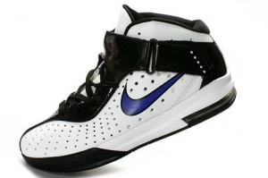 China Nike ZOOM Lebron Soldier V Shoes Black White Blue on sale