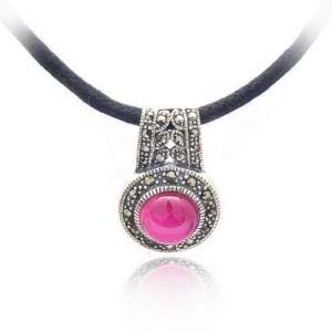China Thai Silver Jewelry rudy gemstone jewelry pendant on sale