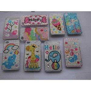 China FOR IPHONE 4G cellphone diamond/rhinestone bling hard case for iphone 4g on sale