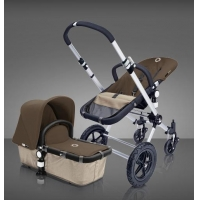 Bugaboo Cameleon Stroller with Sand Base and Dark Brwon Top