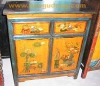 China Bedside Cabinet 0801-SC136 2 Door 2 Drawer Painting Cabinet on sale