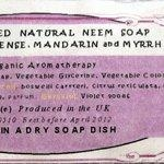China Handcrafted Organic Aromatherapy Neem Soaps on sale