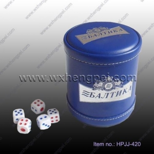 China Other Creative House Holding p Leather dice cup (HPJJ-420) on sale