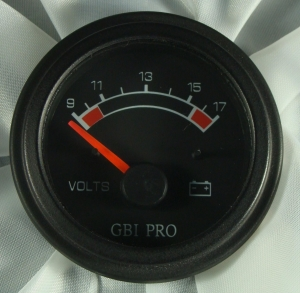 China Battery Voltage Gauge GBI Pro - Air Core 12 Volt. No sender required 9 to 17 volt scale color coded on sale