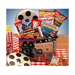 Gourmet Gift Baskets Superstar Movie Gift Box - $15 Blockbuster Gift Card