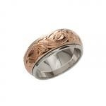 China 8mm 14K Pink Gold Plated Spinning Rings on sale