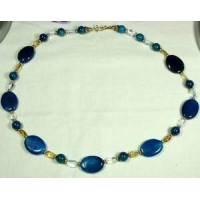 China Lovely Dragon Veins Agate Necklace 24 inches on sale