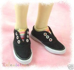 China Super Dollfie SD Shoes Slip-On Tennis Sneakers Black on sale