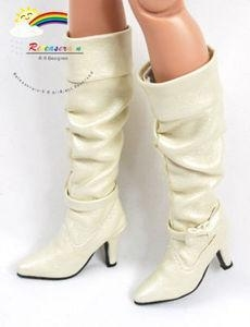 China 16 Tonner Tyler/Gene Shoes Knee-High Boots Pearl White on sale