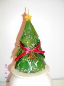 China green christmas tree candle on sale